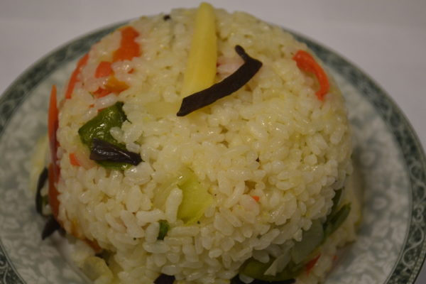 Roasted rice with vegetables