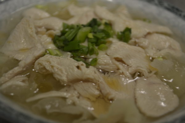 "Soup ""Chicken with white mushrooms"""