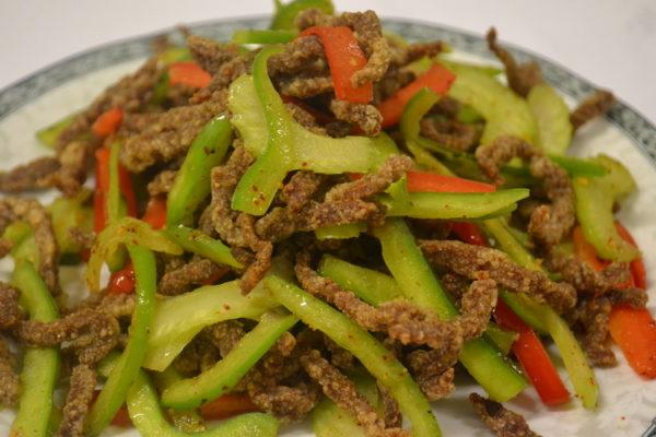 Spicy crunchy beef