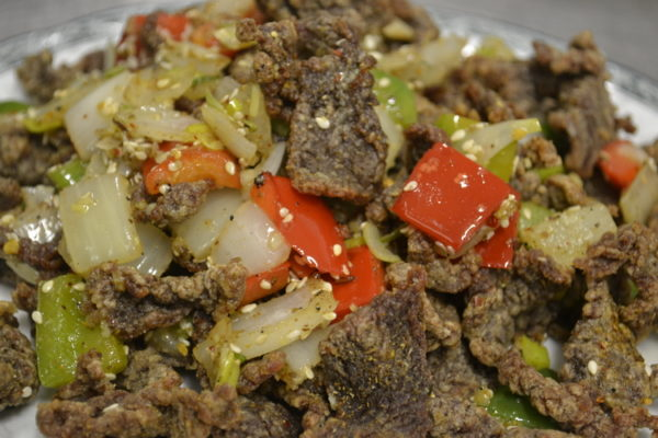 """Spicy roasted mutton """"Ziran"""" with caraway"""