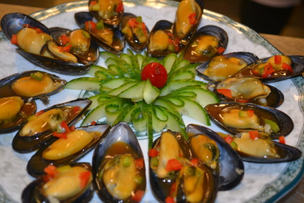 Mussels in sauce from shellfishes