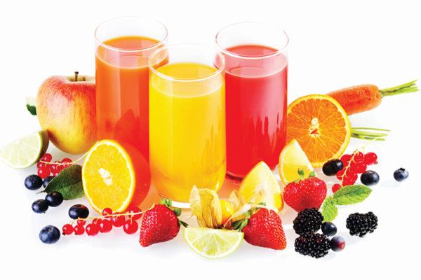 Яблочный, персиковый, виноградный, апельсиновый, ананасовый, томатный, грейпфрутовый, мультивитамин